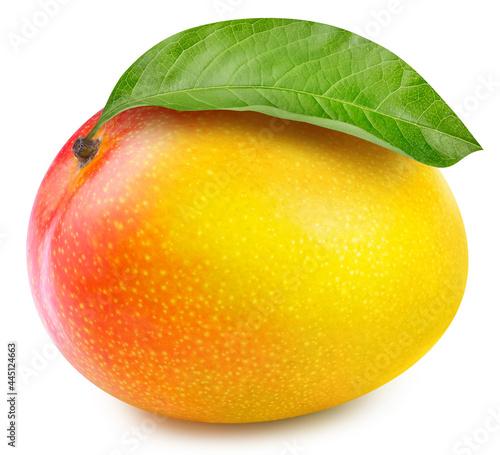 Juicy mango isolated on the white background