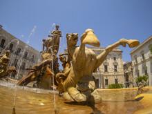 Archimede Place Triton Fountain Syracuse
