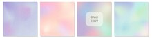 Set Of Modern Gradient Vector Background In Pastel Colors