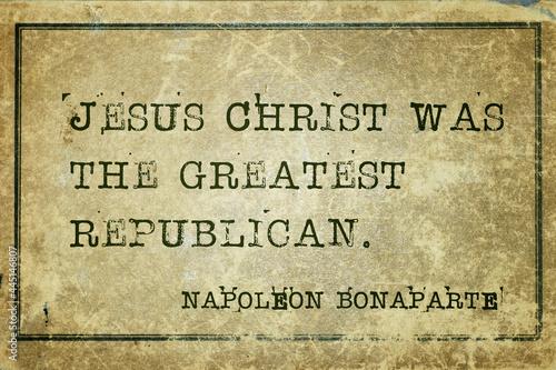 Obraz na plátně greatest republican Napoleon