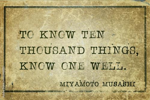Fotografía know one well Musashi