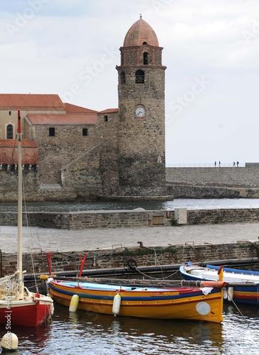 Le port de Collioure dans les Pyrénées-Orientales France