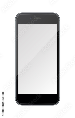 Realistic smartphone isolated on white background. #445171444
