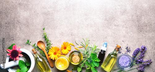 Fotografie, Obraz Homemade natural cosmetics organic beauty products