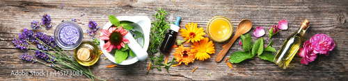 Homemade natural cosmetics organic beauty products