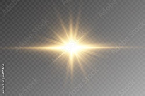 Slika na platnu Vector transparent sunlight special lens flare light effect