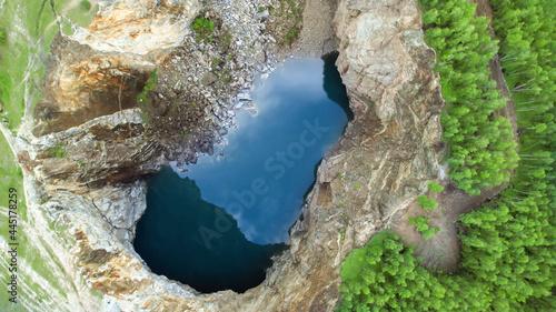 Photo mountain lake, an unusual place