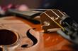 Geige close up f-löcher