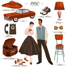 Fashion And Clothes Furniture And Objects Of 1950s