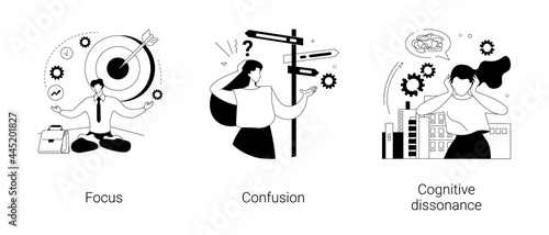 Mental state abstract concept vector illustrations.