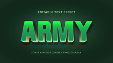 Army Green And Golden Editable 3d Text Effect-01