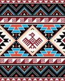 Fototapeta Kuchnia - Aztec Triabl geometric seamless vector pattern with bird and traingles - Peruvian rug or carpet style, 8x10 format, Southwestern decor