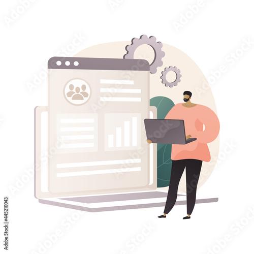 Fotografie, Obraz Customer relationship management abstract concept vector illustration