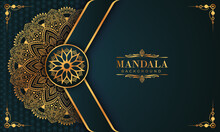 Luxury Mandala Background With Golden Arabesque Pattern Arabic Islamic East Style. Decorative Mandala For Print, Poster, Cover, Brochure, Flyer, Banner, And Your Desired Ideas. Mandala For Henna.