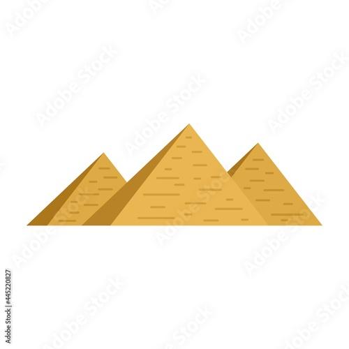 Billede på lærred Egypt pyramids icon flat isolated vector