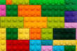 Leinwandbild Motiv Details of children's plastic building kit close up