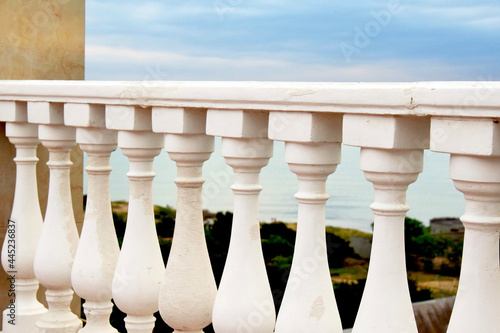 Cuadros en Lienzo Beauty and fashion. Balcony balusters made of lime stone