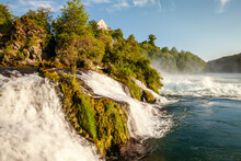 Rheinefall Landscape One Of The Largest Waterfalls In Europe