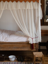 Interior Of An Old Bedroom