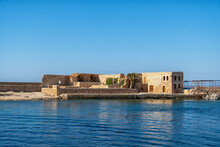 Historic Building In The Port Of Chania On The Greek Island Of Crete