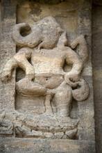 Statue Of Sitting Ganesha On The Wall Of Virupaksha Temple