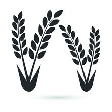 Wheat Agriculture Icon Vector Illustration