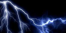 Thunder Energy Waves In Black Background