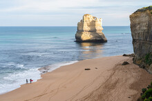 Beautiful Seascape With Big Cliffs In Port Campbell National Park, Australia
