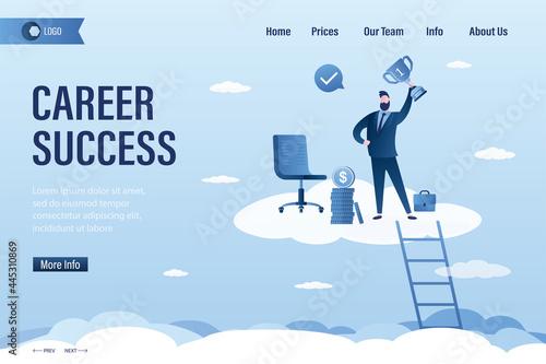 Canvastavla Career success, landing page template