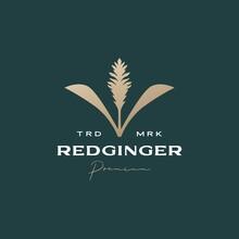 Red Ginger Flower Tree Sophisticated Aesthetic Logo Vector Icon Illustration