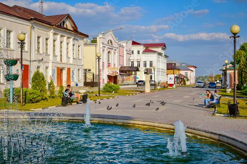Lebedyan city center streets, Lipetsk region Fototapet