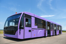 A Special Bus For Delivering Passengers From The Pier To The Plane