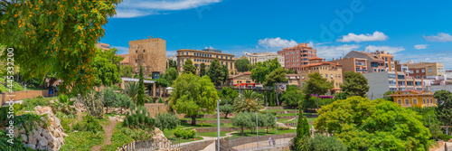 Canvas Roman amphitheatre in Tarragona, Costa Dorada, Catalonia, Spain