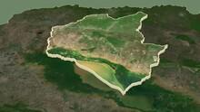 Siemreab - Province Of Cambodia Extruded. Satellite