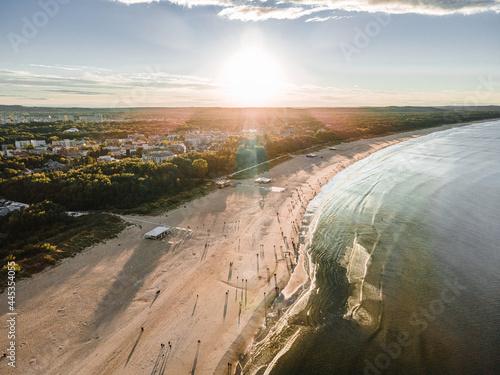 Świnoujście - Zachód słońca nad polskim morzem
