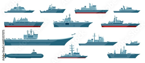 Canvas Military boats