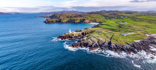 Aerial View Of Fanad Head Lighthouse County Donegal Lough Swilly And Mulroy Bay