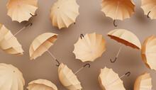 Beige Umbrellas