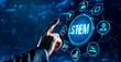 Internet, business, Technology and network concept.Science, technology, engineering and math. STEM concept.