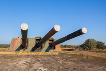 Triple Gun Of Armored Battery 30. Soviet Military Unit