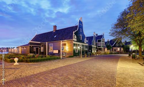 Fotografie, Obraz Netherlands rural landscape at night with house