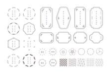 シンプルな和風モダンデザインのあしらいセット