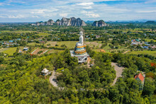 Wat Nong Hoi Park Buddha Statue And Temple, In Ratchaburi, Thailand