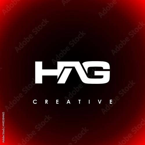 Fotografija HAG Letter Initial Logo Design Template Vector Illustration