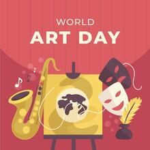 Hand Drawn World Art Day Illustration_11