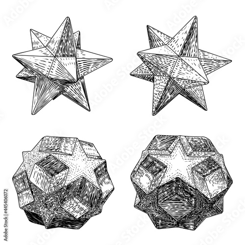 Set of decorative balls in hand drawn style Fototapete