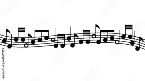 Canvas notes de musique- partition