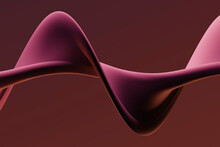 Three Dimensional Render Of Pink Colored Twisted Shape