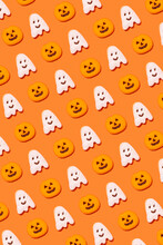 Pattern Of Halloween Themed Cookies