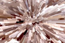 An Abstract 3D Background Similar To A View Through A Kaleidoscope.